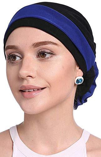 WETOO Women Ruffle Chemo Cap Cancer Headwear Slouchy Chemo Beanie Cancer Turban Hat