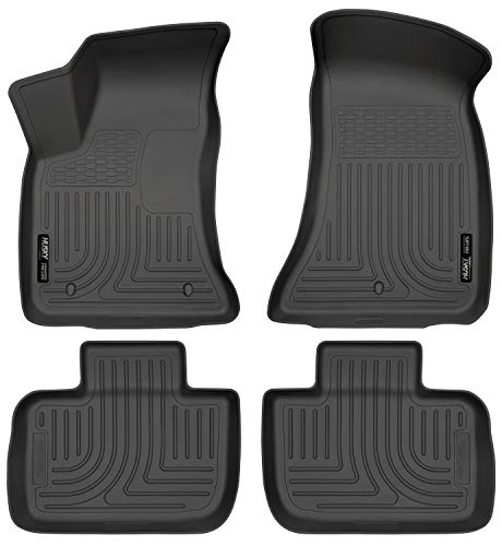 Husky Liners 98061 Black Weatherbeater Front & 2nd Seat Floor Liners Fits Chrysler 300, 2011-19 Dodge Charger RWD