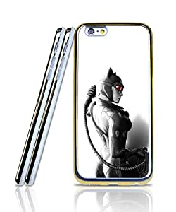 Cool Funda Case For IPhone 6 Plus, Film - Catwoman Silicone Gel 2 in 1 Hybrid Dual Layer Golden - Bordered Exclusive + Special Simple Pattern Anti Slip Suitable For IPhone 6 6s Plus [5.5 inch]
