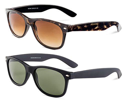 Havana Frame/Brown Gradient Lens and Matte Black Frame/Green ()