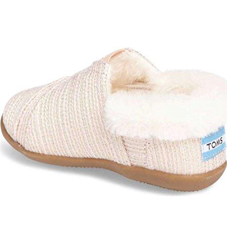 TOMS Kids Baby Girl's House Slipper (Infant/Toddler/Little Kid) Pink Metallic Woven 1 9 M US Toddler -