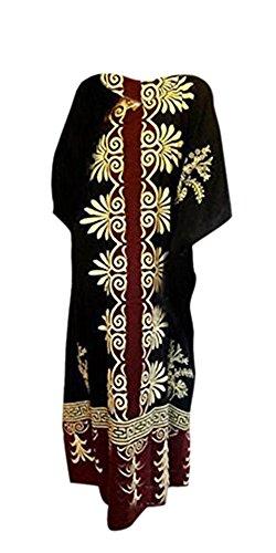 New lANGKAWI fine ample à manches longues en coton-robe caftan amazing red plus noir