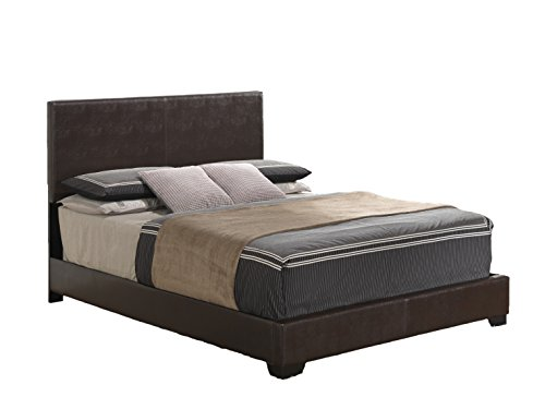 Global Furniture Upholstered Bed, Full, Brown