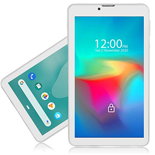 Indigi 7.0in Android Tablet PC 4G LTE Smartphone WiFi Google Play Store [QuadCore + 2GB RAM/16GB ROM] (White)
