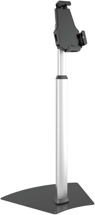 Anti-Theft Tablet Security Stand Kiosk - Heavy Duty Aluminum Metal Floor Standing Mount Tablet Case Holder Display w/Height Adjustable Pole, Fits iPad Mini 2 3 4 Air Samsung Tablets - Pyle PSPADLK60