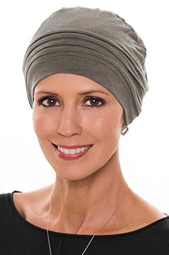 Couture Cap-Caps for Women with Chemo Cancer Hair Loss Luxury Bamboo - Heather Taupe