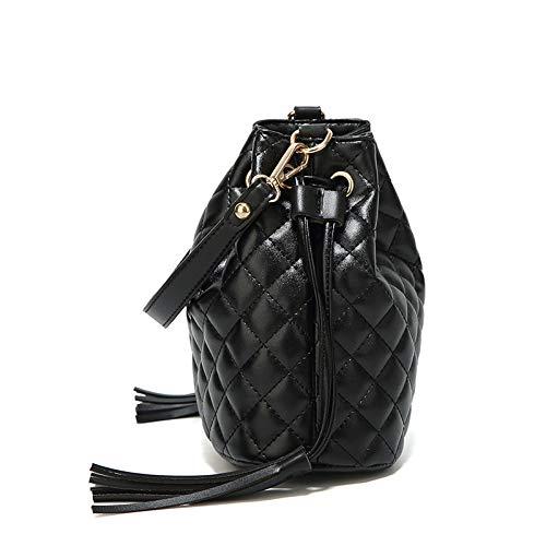 FJTHY Femme Diagonal Fashion Tote épaule noir Fringe porté Sac rCntWqr