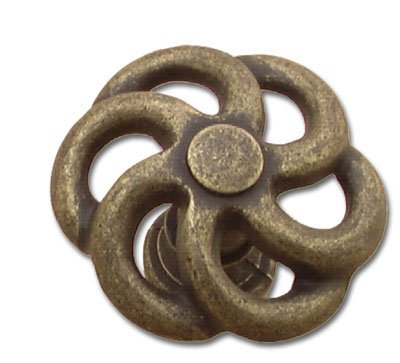 Antique Windover Belwith Knob (Hickory Hardware PA1311-WOA 1.5 In. Charleston Blacksmith Windover Antique Cabinet Knob)