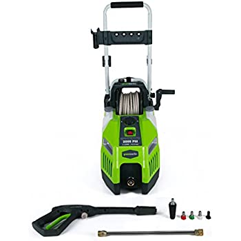 Greenworks 2000 PSI 13 Amp 1.2 GPM Pressure Washer with Hose Reel GPW2001