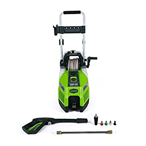 GreenWorks GPW2001 13 amp 2000 PSI 1.2 GPM Electric Pressure Washer with Hose Reel
