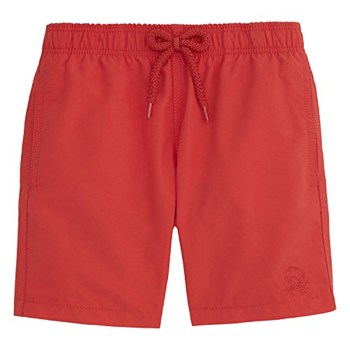 Vilebrequin Water-Reactive Coquillages Et Crustacés Swim Shorts - Boys - Poppy Red - 4 by Vilebrequin