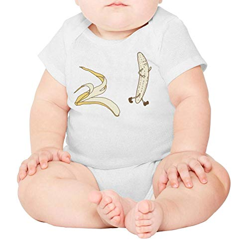 Super Value Novelty Wallpaper - Baby Onesies Hot Summer Yellow Banana Take Off Clothes 100% Cotton Baby Jumpsuit Super Power Short Sleeve Bodysuit