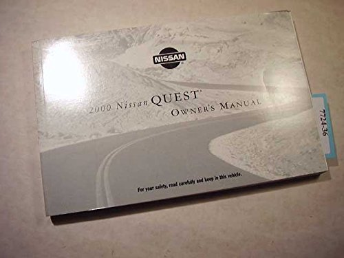 Owners Manual Quest Nissan (2000 Nissan Quest owners manual)