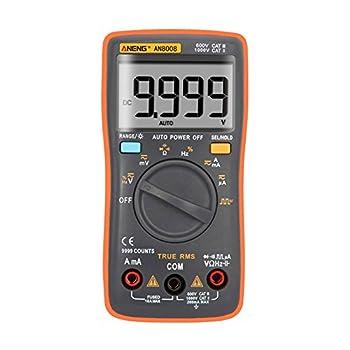 Alloet AN8008 True-RMS Digital Multimeter Square Wave Voltage Ammeter MAX Display 9999 Counts Auto/Manual Ranges True RMS (orange)