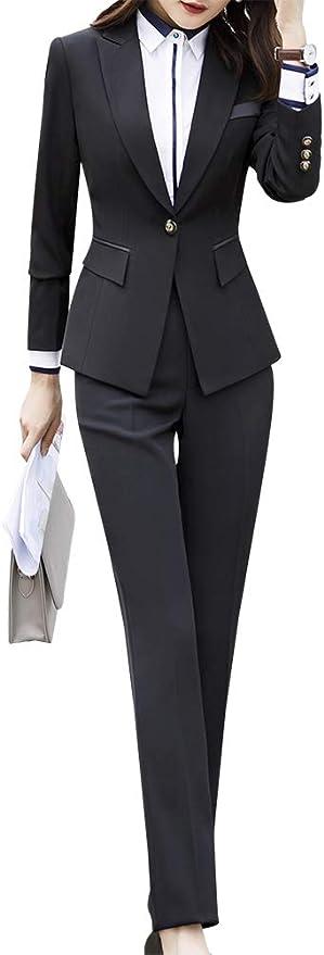 LISUEYNE Abito da Donna Formale Due Pezzi Blazer con Un