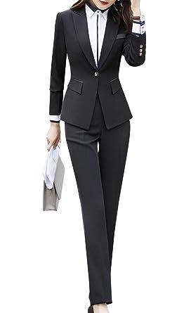 Blazer de Dos Piezas Formales para Mujer, Traje de Trabajo ...