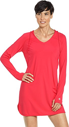 Coolibar UPF 50+ Women's Swim Cover-Up Dress - Sun Protective (3X- Poppy Red) by Coolibar