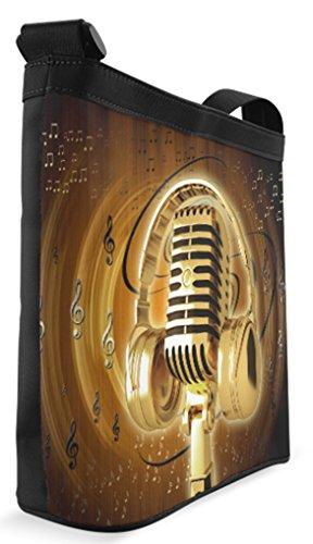 with Background Fashion Shoulder Sling Instruments Female Musical Crossbody Bag Bag Casb010smusic05 xnFHYwq4