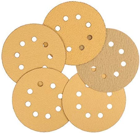 30 Pcs 5 Inch 8 Holes Sanding Discs of Hooks and Loops Sanders 60 80100120220 Assorted Beads Sandpaper for car polishing