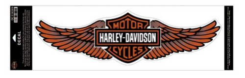 Harley-Davidson Straight Wing Decal Orange 5XL Size Sticker -
