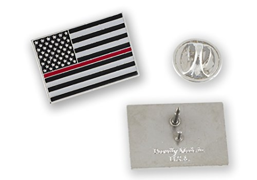 - Forge Made in USA Thin Red Line American Flag Firefighter Pin (1 Pin)