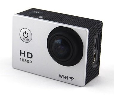 DTG ACTION CAMERA, ACTION CAM, SHOCKPROOF, HD VIDEO 1080P WITH BUILT IN WIFI AND WATERPROOF ACCESSORIES WITH FREE DTG POUCH (White) by DTG-Global