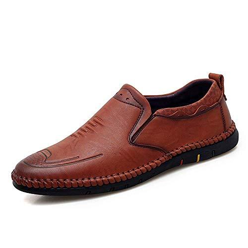 Ue Para Hombres Oxfords Con Transpirables Redondos Zapatos Eu Plano Tamaño 41 Ocio Cordones color Tamaño De Tacón Y 2018 Negro Marrón Fuweiencore 42 color 5IXSwxUw
