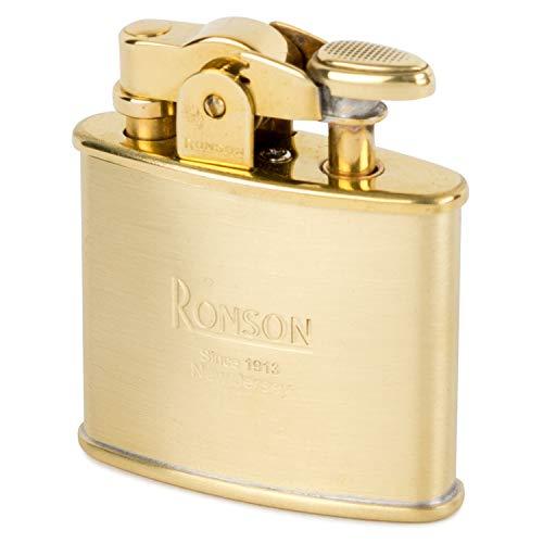 Ronson Standard R02-0027 Brass Satin Stylish Design Made in JAPAN Oil Lighter ()