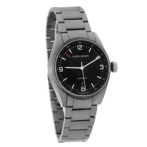 Georg Jensen Delta Men's Automatic Dual Time GMT Watch Swiss Made 3575606
