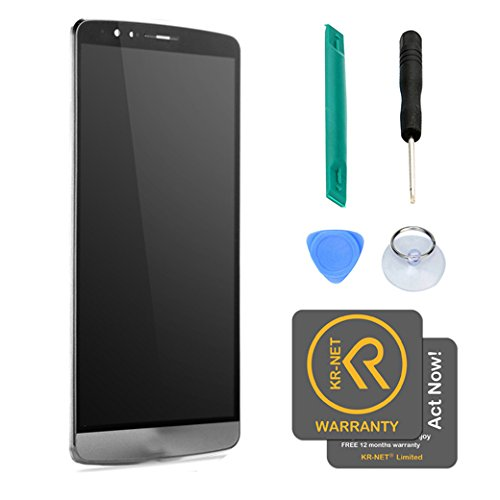 Easy To Shop Black Full LCD Display+Touch Screen Digitizer Assembly+Frame LG G3 Sprint LS990 [Non-retail Packaging]