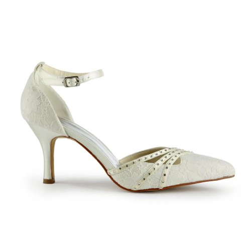mariée Wedding Beige femme pour Jia A313 Escarpins de chaussures Jia mariage HFgwXAq55