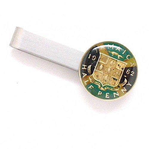 Jamaica Coin Tie Bar Clip Tieb