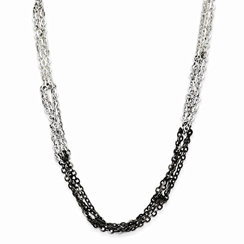 (925 Sterling Silver 16 Inch 2 Extension Chain Necklace Pendant Charm Multi-str Fine Jewelry Gifts For Women For Her)