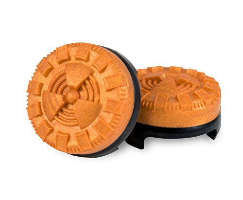 KontrolFreek Atomic for PlayStation 4 (PS4) Controller | Performance Thumbsticks | 2 Mid-Rise Convex | Orange 3