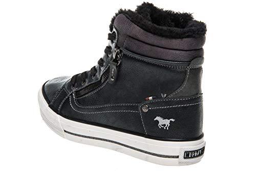 Dunkelgrau 259 Top Femme Hautes Graphit High Sneaker Baskets Mustang pYZ0wq