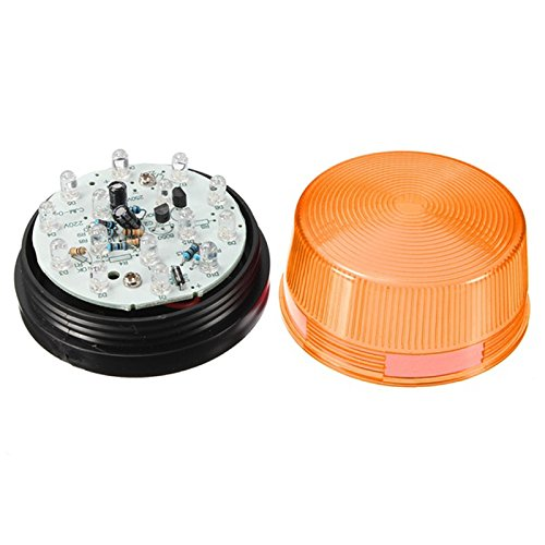 Security Alarm Light - SODIAL(R)12V Security Alarm Strobe Signal Safety Warning Blue/Red Flashing LED Light Orange