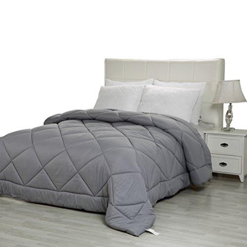 Utopia Bedding Comforter Duvet Insert – Ultra Plush, Siliconized fiberfill, Down Alternative Comforter (Queen, Grey)
