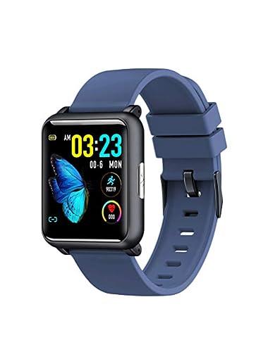 UKCOCO Smart bracelet activity tracker heart rate monitorssmart bracelet pedometer fitness sports wristbands blue Estimated Price -