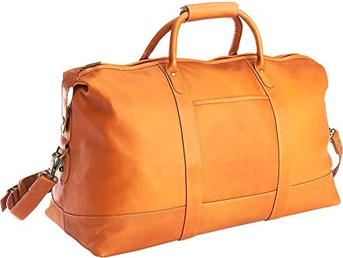 Royce Leather Luxury Duffel Bag Luggage Handcrafted in Colombian Leather, Tan, One Size