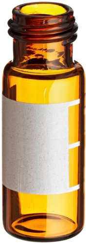 National Scientific Amber Glass I-D Target DP Vial, 2mL/1.8mL Capacity (Case of 100) by National Scientific