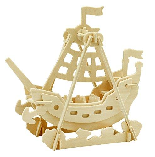 - Hands Craft DIY 3D Wooden Puzzles (Swing Boat)