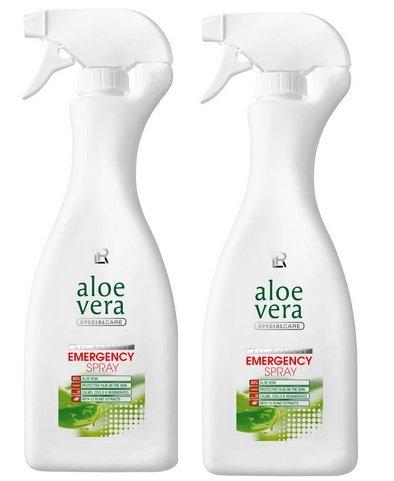LR Aloe Vera Emergency Notfallspray Set 2x500 ml mit 80% Aloe Vera und 12 Pflanzenextrakten
