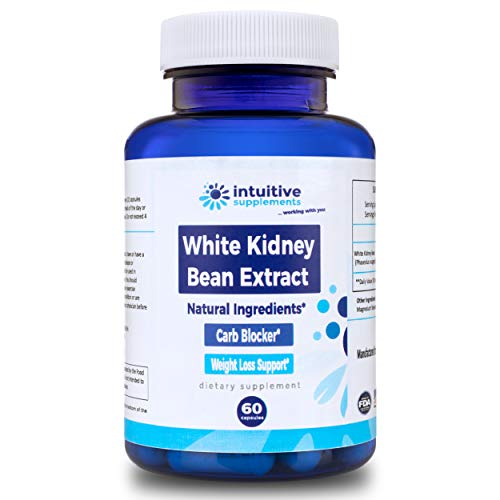 White Kidney Bean Extract Pills - Carb Blocker - Healthy, Natural Weight and Fat Loss - 100% Pure, Clinically Proven, Fat Burner and Appetite Suppressant - 60 Non GMO Vegetarian/Vegan Dietary Capsules