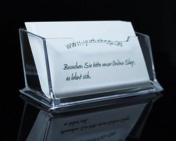 3-Fach Visitenkartenständer,Visitenkartenhalter,Aufsteller aus Acrylglas
