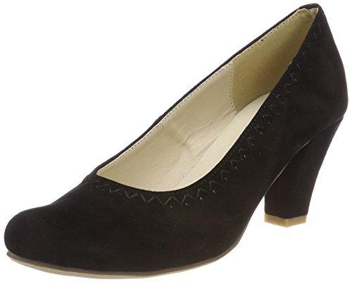 002 Noir Bout Fermé schwarz Femme Escarpins Hirschkogel 3003415 W4wH0SqSfz