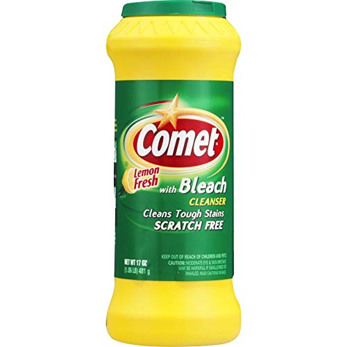 Comet Cleaner with Bleach Cleanser Lemon Fresh 17-Ounces | Scratch-Free | (1-Pack)