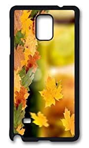 MOKSHOP Adorable falling leaves autumn Hard Case Protective Shell Cell Phone Cover For Samsung Galaxy Note 4 - PCB