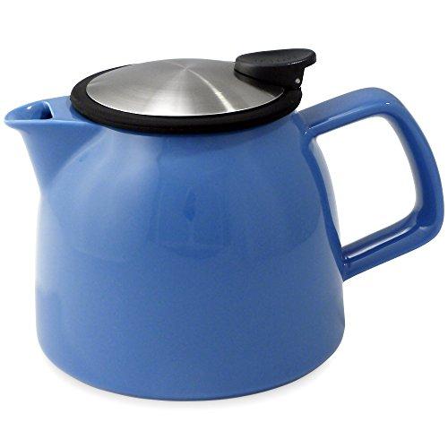 Ceramic Bell (FORLIFE Bell Ceramic Teapot with Basket Infuser 26-Ounce/770ml, Blue)
