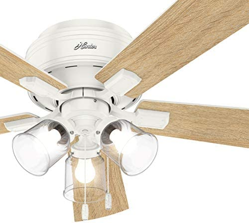 Hunter Fan 52 inch Casual Fresh White Finish Indoor Ceiling Fan