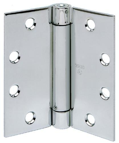 STANLEY 2060R 3 5X3 5 US4 STL Spring Door Hinge, Satin Brass, Steel, 5